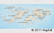 Shaded Relief 3D Map of Falkland Islands (Islas Malvinas)