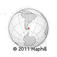 Outline Map of Falkland Islands (Islas Malvinas)