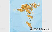 Political Shades 3D Map of Faroe Islands