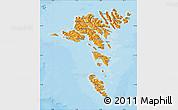 Political Shades Map of Faroe Islands
