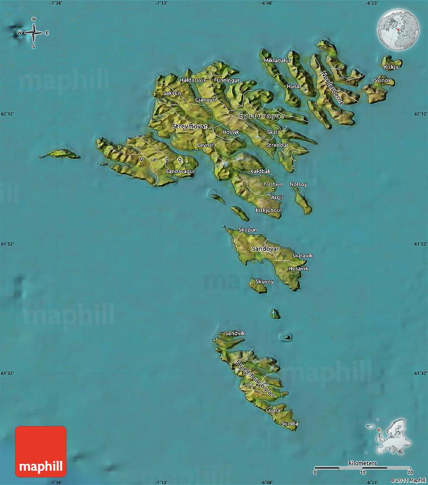 Faroe Islands Map Location