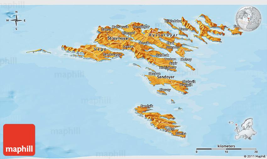 Faroe Map