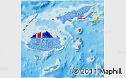 Flag 3D Map of Fiji, physical outside