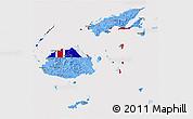 Flag 3D Map of Fiji