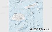 Gray 3D Map of Fiji, single color outside