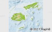 Physical 3D Map of Fiji, lighten