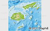 Physical 3D Map of Fiji