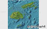 Satellite 3D Map of Fiji