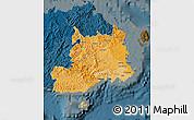 Political Shades Map of Central, darken