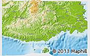 Physical 3D Map of Namosi