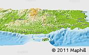 Physical Panoramic Map of Namosi