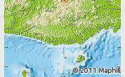 Physical Map of Serua