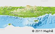 Physical Panoramic Map of Serua