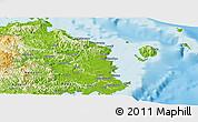 Physical Panoramic Map of Tailevu