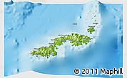 Physical 3D Map of Kadavu
