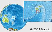 Physical Location Map of Kadavu, highlighted parent region