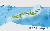 Physical Panoramic Map of Kadavu