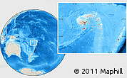 Shaded Relief Location Map of Eastern