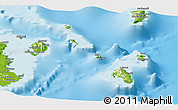 Physical Panoramic Map of Lomaiviti