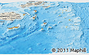 Political Shades Panoramic Map of Eastern, shaded relief outside