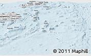 Silver Style Panoramic Map of Eastern