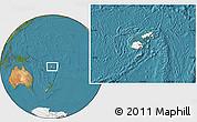 Blank Location Map of Fiji, satellite outside