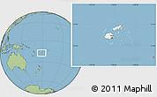 Blank Location Map of Fiji, savanna style outside