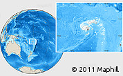 Blank Location Map of Fiji, shaded relief outside