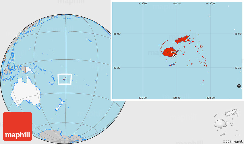 Gray location map of fiji highlighted continent 2d gumiabroncs Gallery