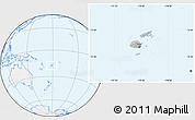 Gray Location Map of Fiji, lighten