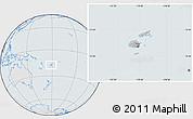 Gray Location Map of Fiji, lighten, semi-desaturated