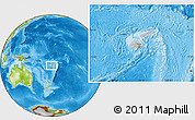 Gray Location Map of Fiji, physical outside
