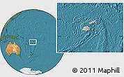 Gray Location Map of Fiji, satellite outside