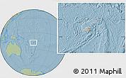 Gray Location Map of Fiji, savanna style outside, hill shading