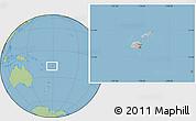 Gray Location Map of Fiji, savanna style outside