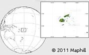 Satellite Location Map of Fiji, blank outside
