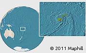 Satellite Location Map of Fiji, lighten, land only