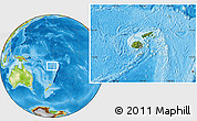Satellite Location Map of Fiji, physical outside