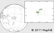 Savanna Style Location Map of Fiji, blank outside