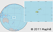 Savanna Style Location Map of Fiji, gray outside