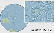 Savanna Style Location Map of Fiji, hill shading outside