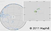 Savanna Style Location Map of Fiji, lighten, desaturated