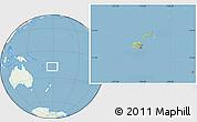 Savanna Style Location Map of Fiji, lighten, land only