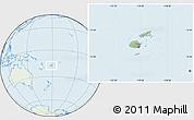 Savanna Style Location Map of Fiji, lighten