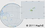 Savanna Style Location Map of Fiji, lighten, semi-desaturated