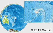 Shaded Relief Location Map of Fiji, physical outside