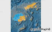 Political Map of Fiji, darken