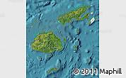 Satellite Map of Fiji, political outside, satellite sea