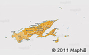 Political Shades 3D Map of Northern, cropped outside