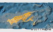 Political Shades 3D Map of Northern, darken